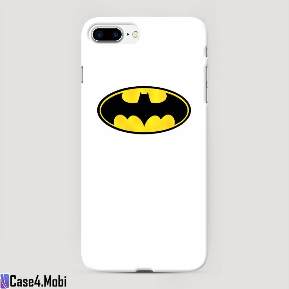 Пластиковый чехол Бэтман белый на iPhone 7 Plus