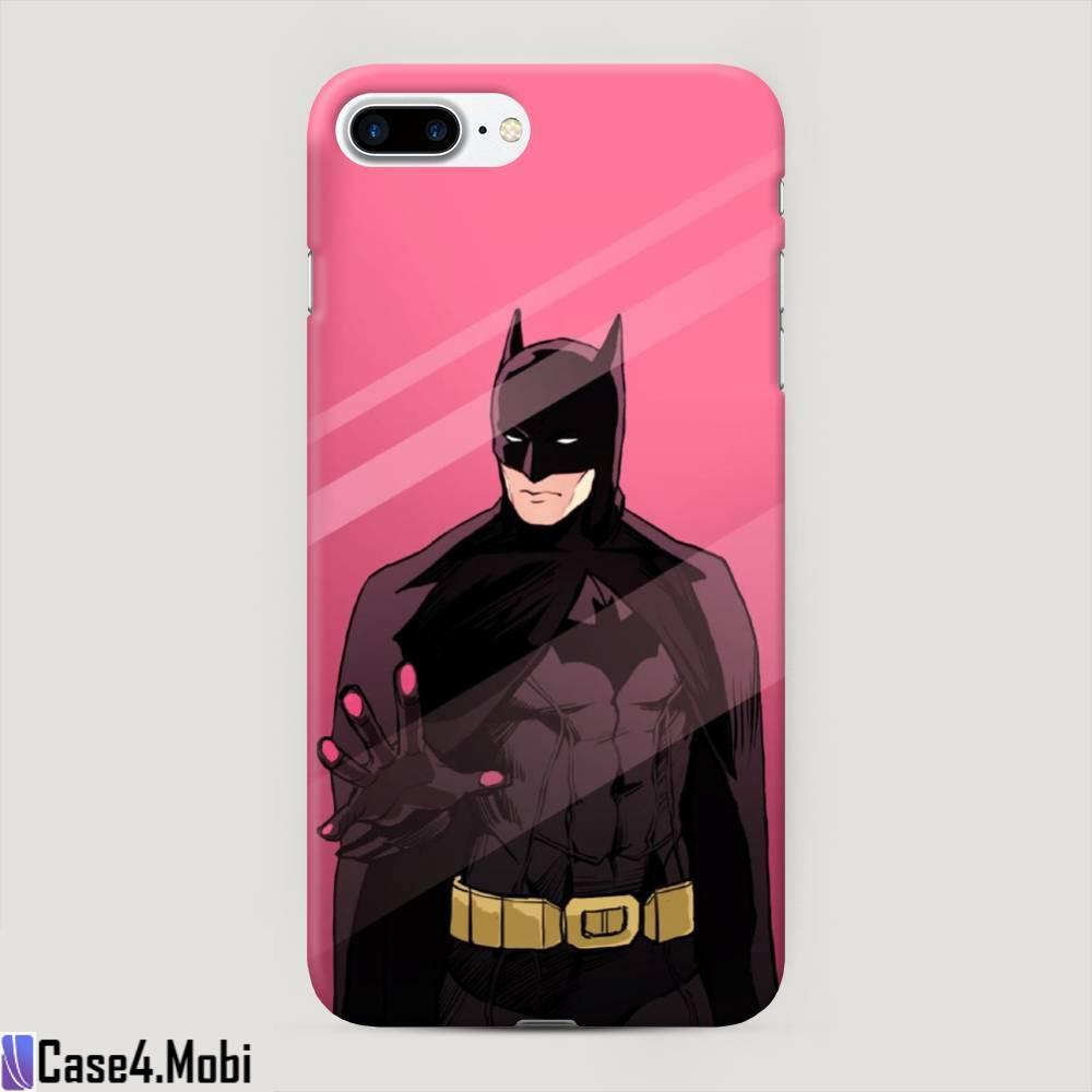 Пластиковый чехол Бэтмен за стеклом на iPhone 7 Plus
