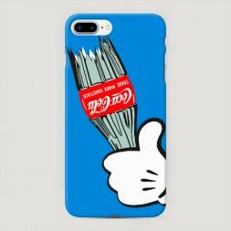 Пластиковый чехол Разбитая кола на iPhone 7 Plus