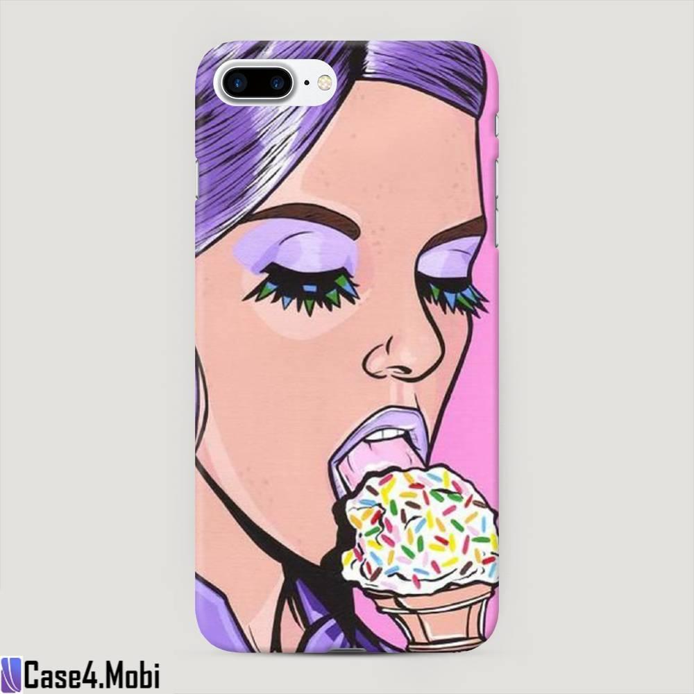 Пластиковый чехол Девушка с мороженым на iPhone 7 Plus