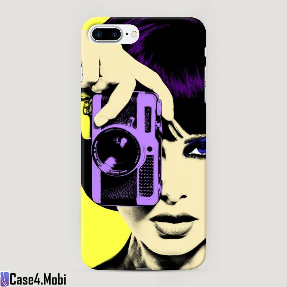 Пластиковый чехол Девушка с фотоаппаратом на iPhone 7 Plus