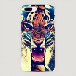 Пластиковый чехол Тигр-крест на iPhone 7 Plus