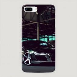 Пластиковый чехол Ауди черный на iPhone 7 Plus