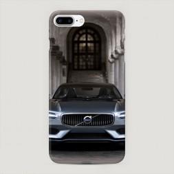 Пластиковый чехол Вольво серебристый на iPhone 7 Plus