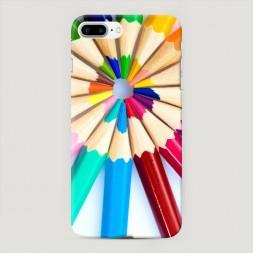 Пластиковый чехол Цветные карандаши на iPhone 7 Plus
