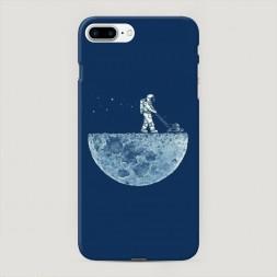 Пластиковый чехол Космонавт на луне на iPhone 7 Plus