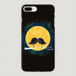 Пластиковый чехол Целующиеся птички на iPhone 7 Plus