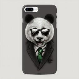 Пластиковый чехол Деловая панда на iPhone 7 Plus