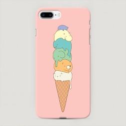 Пластиковый чехол Милое мороженое на iPhone 7 Plus