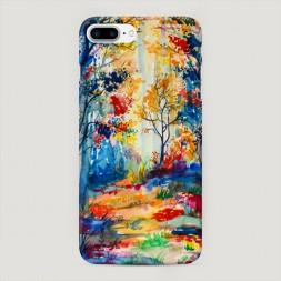 Пластиковый чехол Нарисованный лес на iPhone 7 Plus