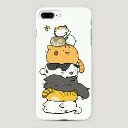 Пластиковый чехол Бутерброд из котиков на iPhone 7 Plus