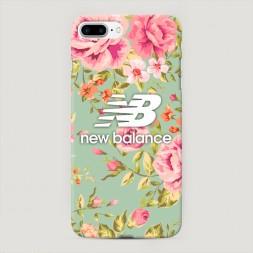 Пластиковый чехол New Balance в цветах на iPhone 7 Plus