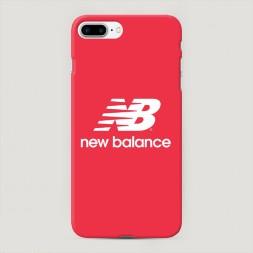 Пластиковый чехол New Balance красный на iPhone 7 Plus
