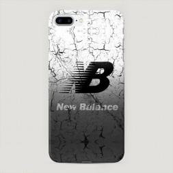Пластиковый чехол New Balance черно-белый на iPhone 7 Plus