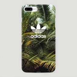 Пластиковый чехол Адидас пальмы на iPhone 7 Plus