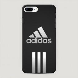 Пластиковый чехол Адидас три полоски на iPhone 7 Plus