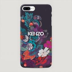 Пластиковый чехол Кензо в цветах на iPhone 7 Plus