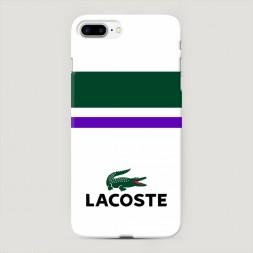 Пластиковый чехол Lacoste классика на iPhone 7 Plus