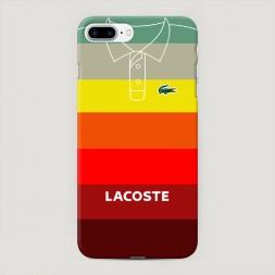 Пластиковый чехол Lacoste полосатое поло 3 на iPhone 7 Plus