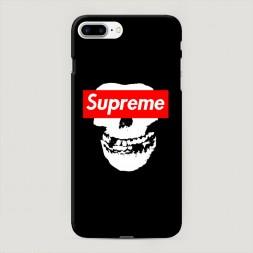 Пластиковый чехол Supreme череп на iPhone 7 Plus