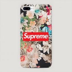 Пластиковый чехол Supreme в цветах на iPhone 7 Plus