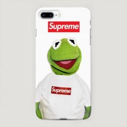 Пластиковый чехол Лягушонок Supreme на iPhone 7 Plus
