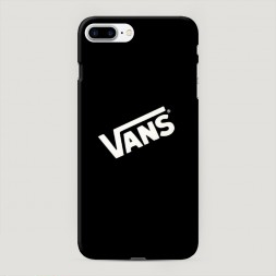 Пластиковый чехол Vans на черном фоне на iPhone 7 Plus