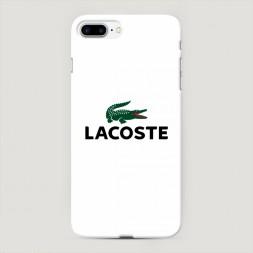 Пластиковый чехол Lacoste минимализм на iPhone 7 Plus