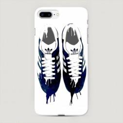 Пластиковый чехол Адидас нарисованные кроссовки на iPhone 7 Plus