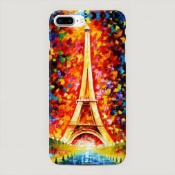 Пластиковый чехол Эйфелева башня экспрессия на iPhone 7 Plus