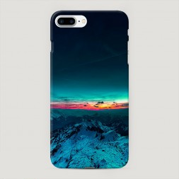 Пластиковый чехол Закат в горах на iPhone 7 Plus