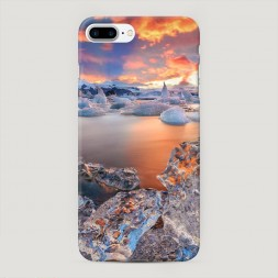 Пластиковый чехол Ледники на iPhone 7 Plus