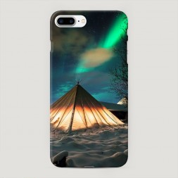 Пластиковый чехол Северное сияние на iPhone 7 Plus