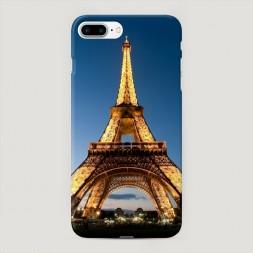 Пластиковый чехол Эйфелева башня ночью на iPhone 7 Plus