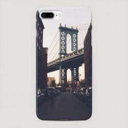 Пластиковый чехол NY city на iPhone 7 Plus