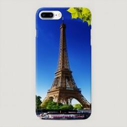 Пластиковый чехол Эйфелева башня летом на iPhone 7 Plus