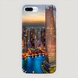 Пластиковый чехол Город высоток на iPhone 7 Plus