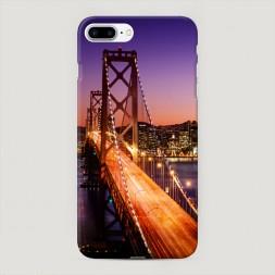 Пластиковый чехол Мост Сан-Франциско ночью на iPhone 7 Plus