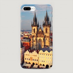 Пластиковый чехол Прага готический собор на iPhone 7 Plus