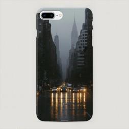 Пластиковый чехол Дождливый Нью Йорк на iPhone 7 Plus