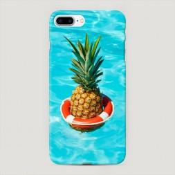 Пластиковый чехол Ананас в бассейне на iPhone 7 Plus