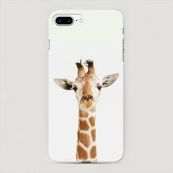 Пластиковый чехол Любопытный жираф на iPhone 7 Plus