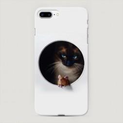 Пластиковый чехол Кошки мышки на iPhone 7 Plus