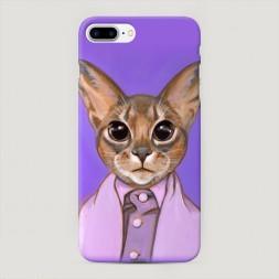 Пластиковый чехол Большеглазый кот на iPhone 7 Plus