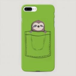 Пластиковый чехол Ленивец в кармане на iPhone 7 Plus