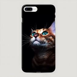 Пластиковый чехол Мечтательный кот на iPhone 7 Plus