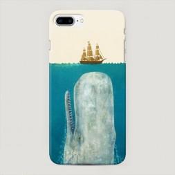 Пластиковый чехол Кит и корабль на iPhone 7 Plus