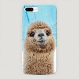 Пластиковый чехол Милая лама на iPhone 7 Plus