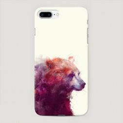 Пластиковый чехол Исчезающий медведь на iPhone 7 Plus