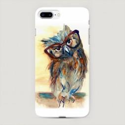 Пластиковый чехол Сова эскиз на iPhone 7 Plus